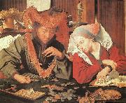 REYMERSWALE, Marinus van Money-Changer and his Wife oil painting